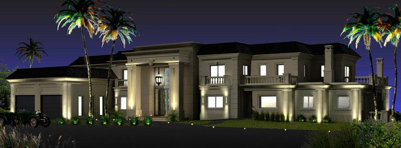 Casa en alba nueva l l studio dise o de iluminaci n for Luces exteriores para casas
